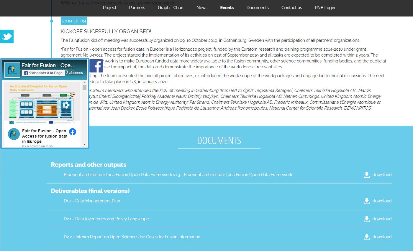 Site web public One page - Documents
