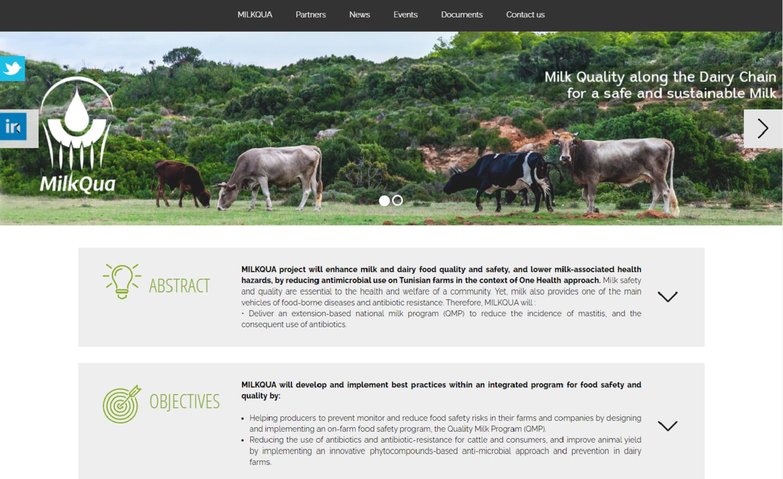 Site web public One page - Informations projet