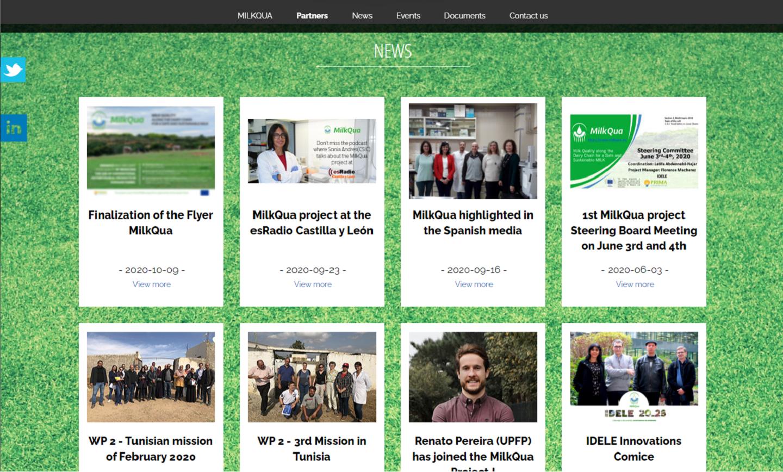 Site web public One page - News