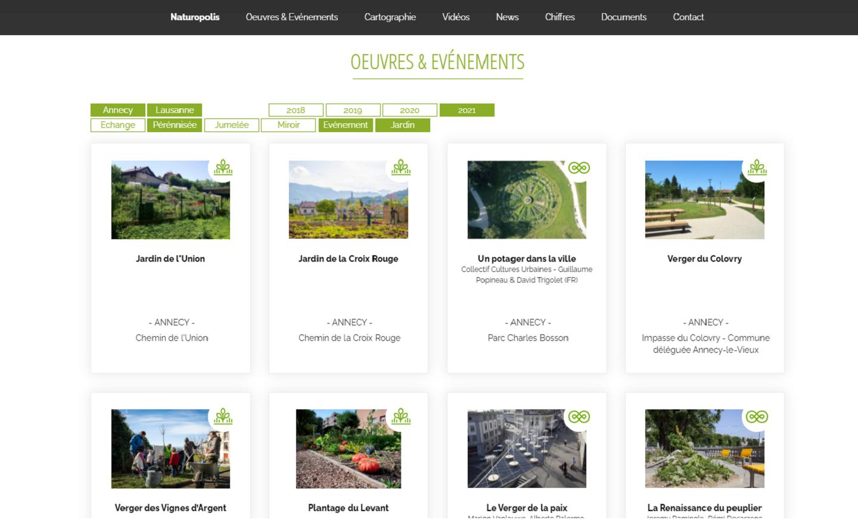 Site web public One page - Naturopolis