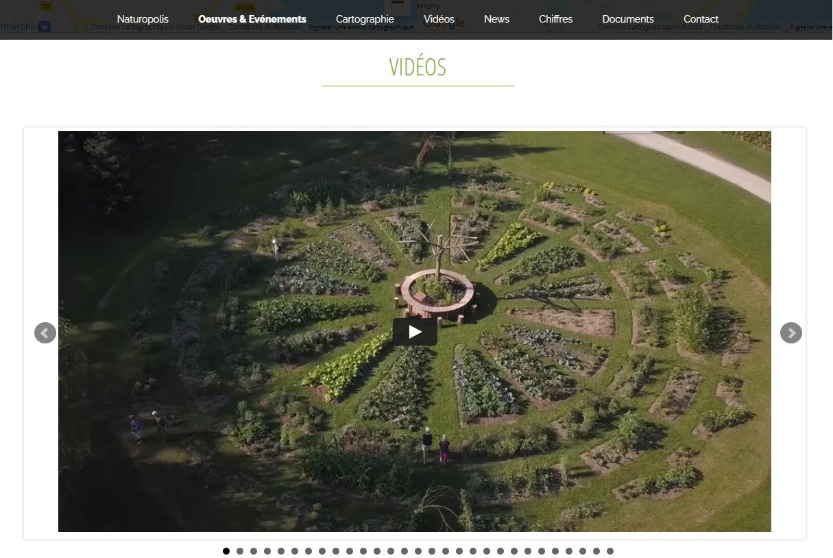 Site web public One page - Slider videos